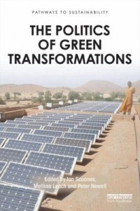 Book cover: The politics of green transformations by