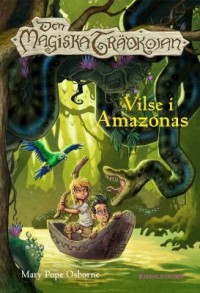 Book cover: Vilse i Amazonas av