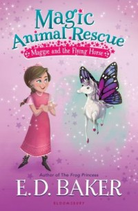 Book cover: Maggie and the flying horse av