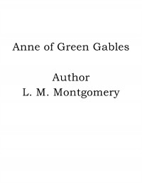 Omslagsbild: Anne of Green Gables av