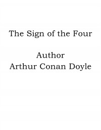Omslagsbild: The sign of the four av