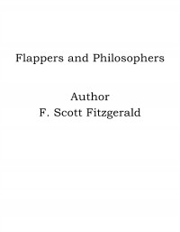 Omslagsbild: Flappers and philosophers av