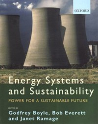 Book cover: Energy systems and sustainability by