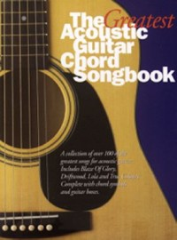 Omslagsbild: The greatest acoustic guitar chord songbook av