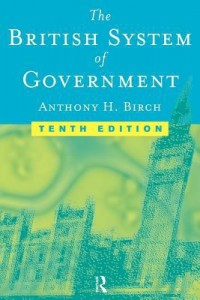 Book cover: The British system of government av
