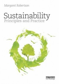 Book cover: Sustainability principles and practice by