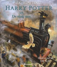 Book cover: Harry Potter och de vises sten av