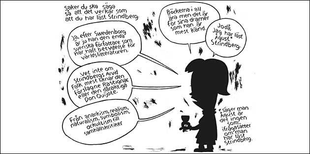 """Ur """"Strindberg för dig som har bråttom"""" av Henrik och Katarina Lange"""