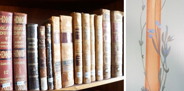 Böcker i styrelserummet